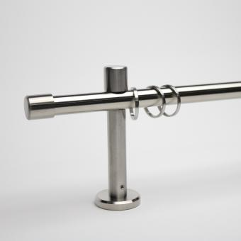 16mm Edelstahl-Garnitur mit Endstück Kappe - Träger 9,5cm
