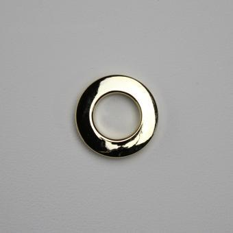 Stoffösen Ø24mm - 0-4mm Stoffstärke - Messing-Glanz - 10 Stück