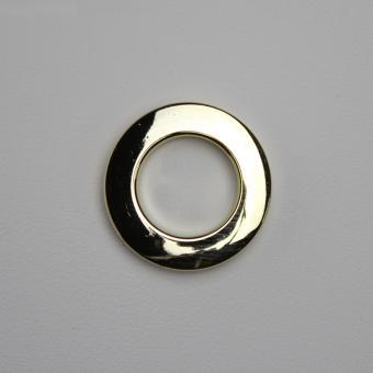 Stoffösen Ø33mm - 0-4mm Stoffstärke - Messing-Glanz - 10 Stück