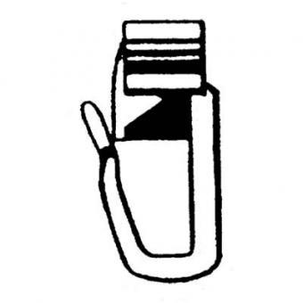 X-Gleiter mit Faltenlegehaken - Für 6mm Lauf - 100 Stück