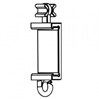 X-Gleiter Clips für Paneelwagen Premium weiß