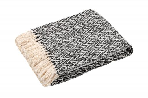 decke yano ethno style plaid 100 baumwolle 125x150cm wohn und. Black Bedroom Furniture Sets. Home Design Ideas