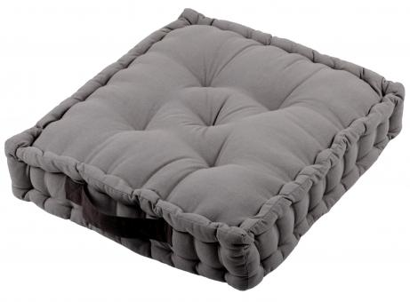 Sitzkissen Uni aus 100% Baumwolle - 45x45x10cm - Farbe Hellgrau