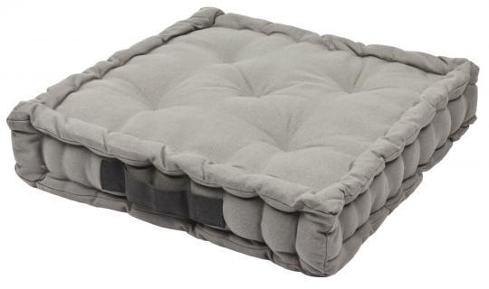Sitzkissen Uni aus 100% Baumwolle - 40x40x6cm - Farbe Mausgrau