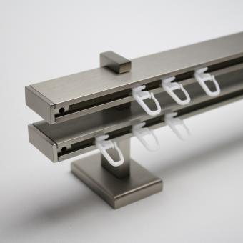 TetraBlock Series Edelstahlfarbig mit Kappe - Träger 6,3/9,1cm - Zweiläufig